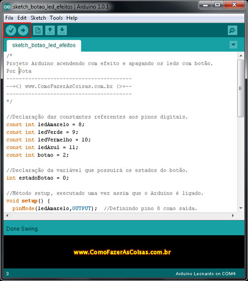 IDE do arduino